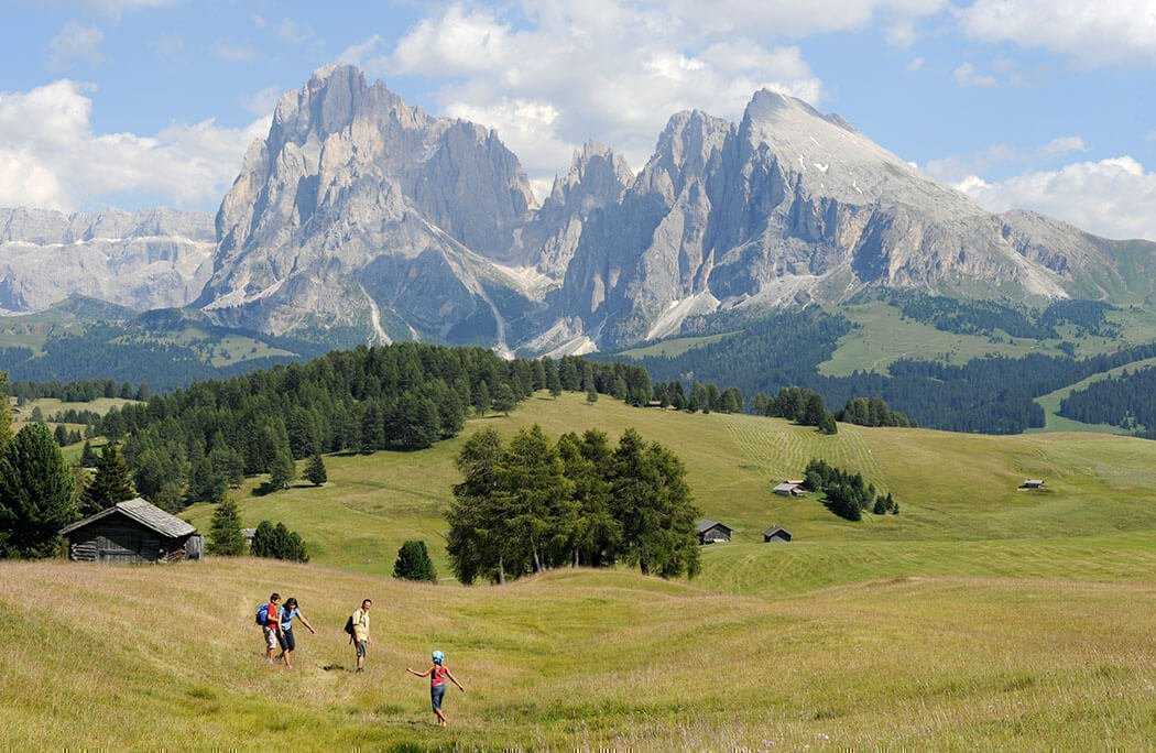 The Alpe di Siusi in summer