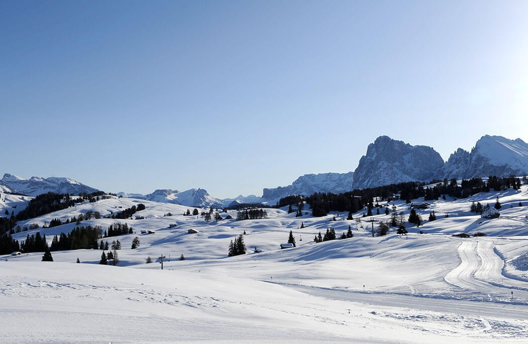 The Alpe di Siusi in winter